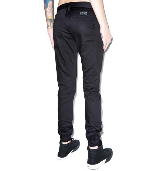 Lexie Signature Over Dyed Twill Jogger Pants