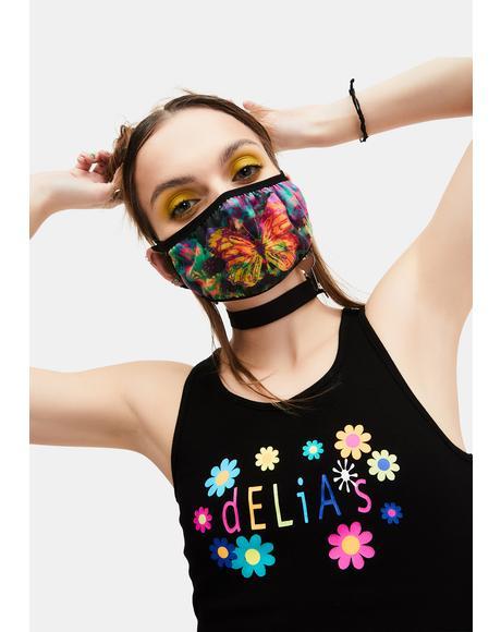 Social Butterfly Tie Dye Face Mask