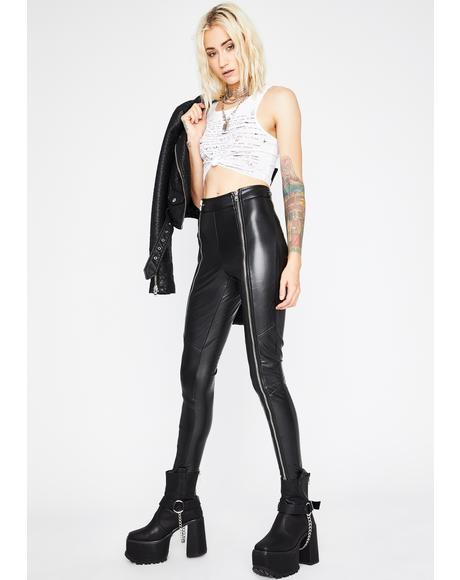 Junkyard Jailbait Vinyl Leggings