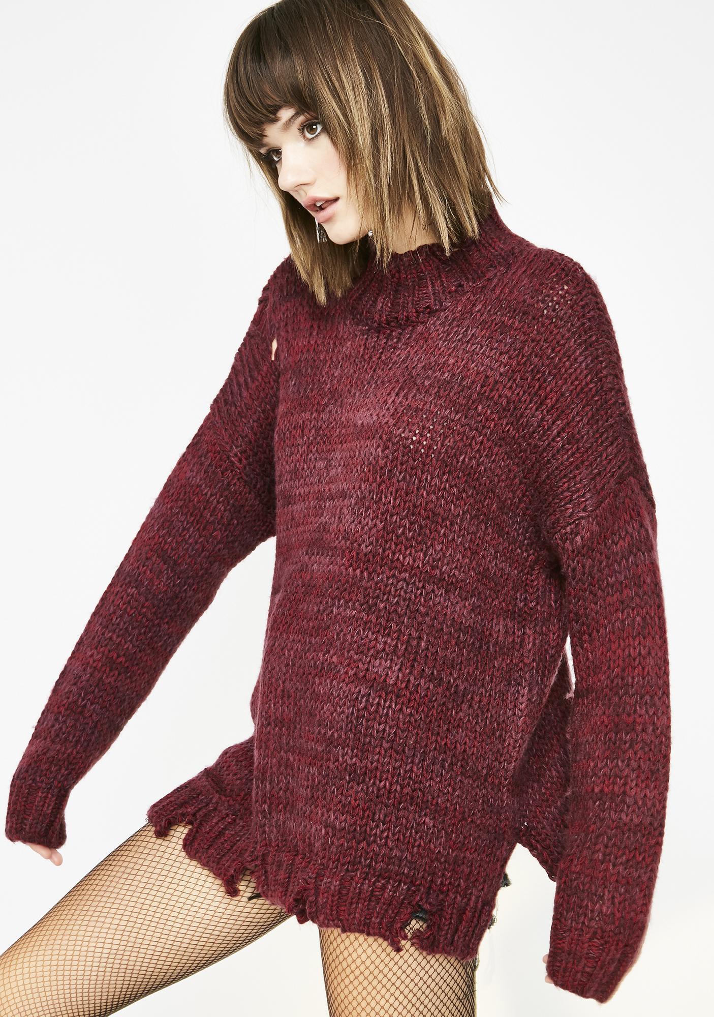 Ravage Savage Distressed Sweater
