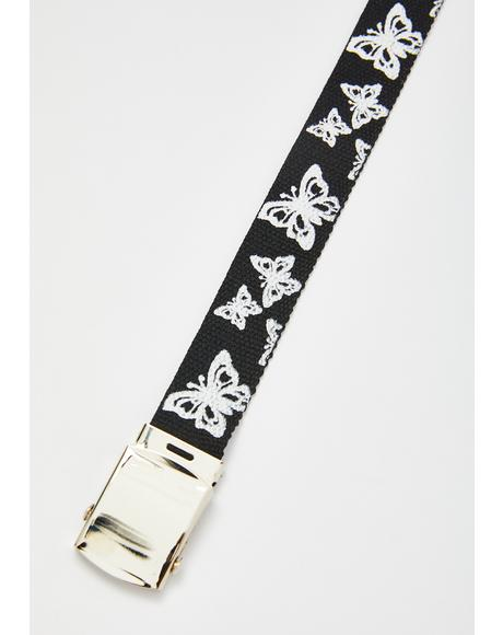 Butterfly Charmer Canvas Belt