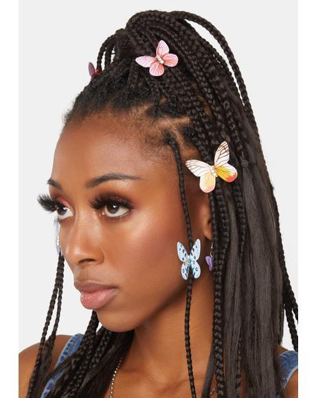 Butterfly Wind Hair Clips Set
