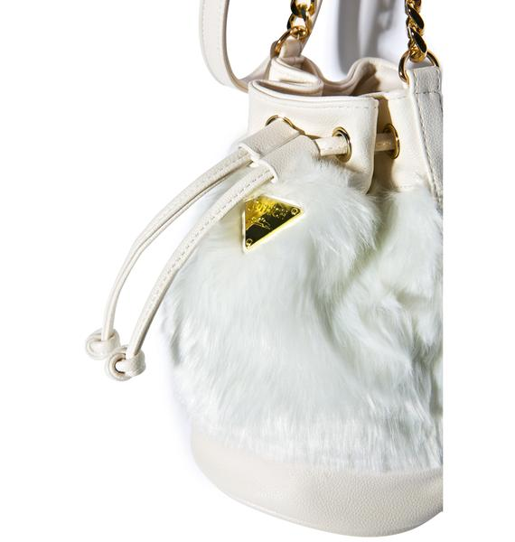 Joyrich Candy Fur Mini Bucket Bag