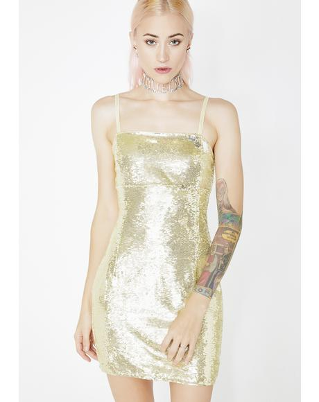 Golden Age Sequin Dress