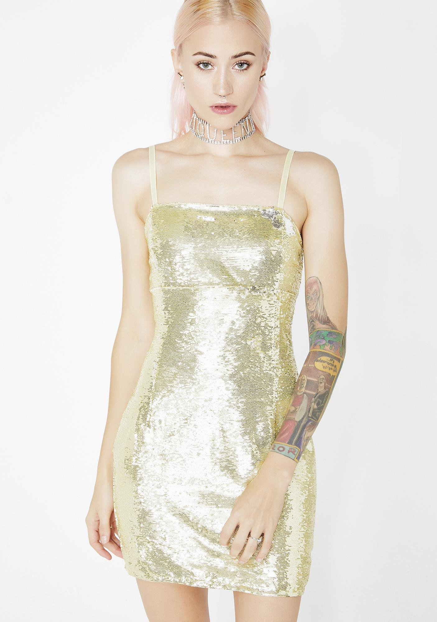 bfcbb4121fa5 Sequin Square Neck Mini Dress | Dolls Kill