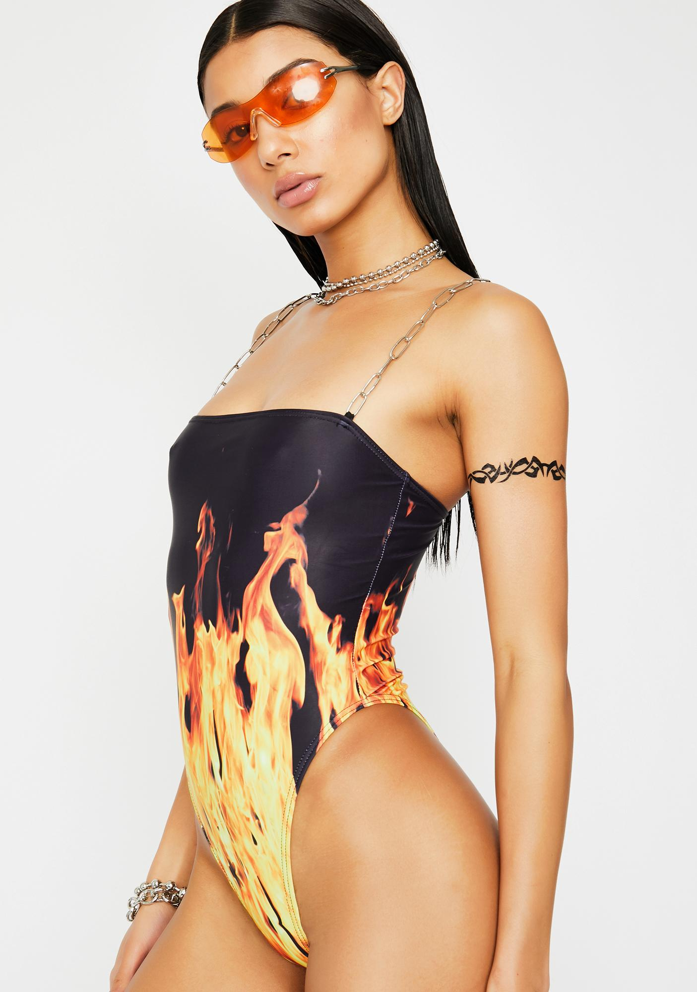 Current Mood Inferno Mode One Piece Swimsuit