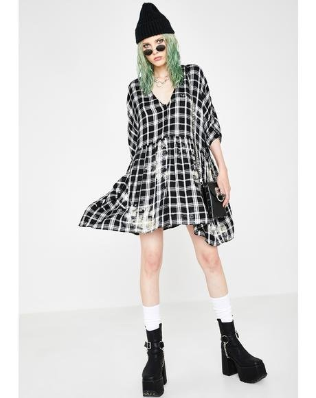 Good Riddance Plaid Dress