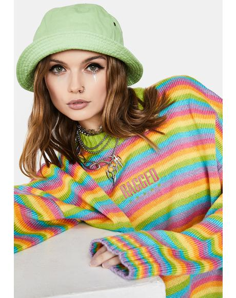 Glow Up Rainbow Knit Sweater
