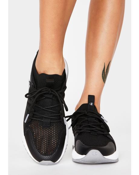 Black Concrete D1 Knit Sneakers