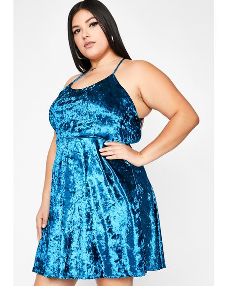 Teal Hellbound Date Mini Dress