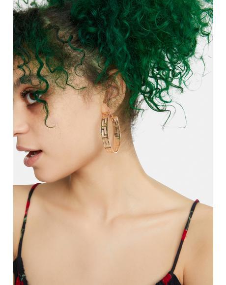Designer Dangle Hoop Earrings