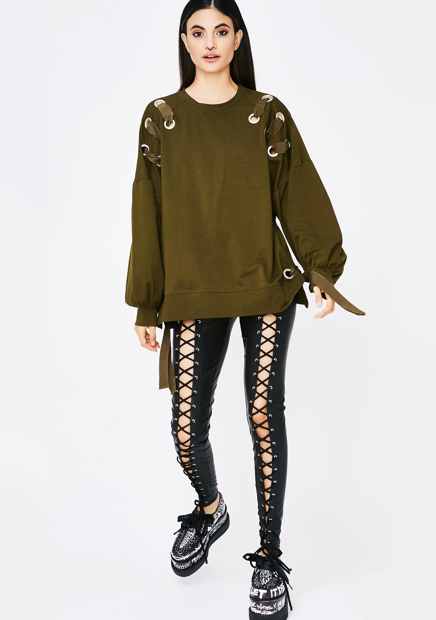 Dirty Money Grommet Sweatshirt
