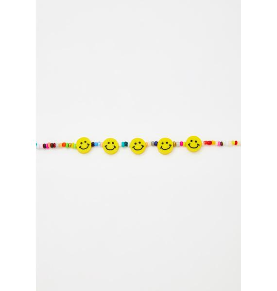 All Smiles Beaded Choker