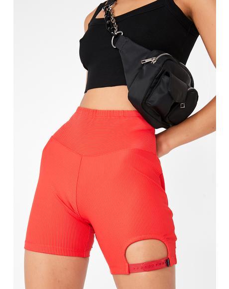 Cherry Oh Snap Biker Shorts