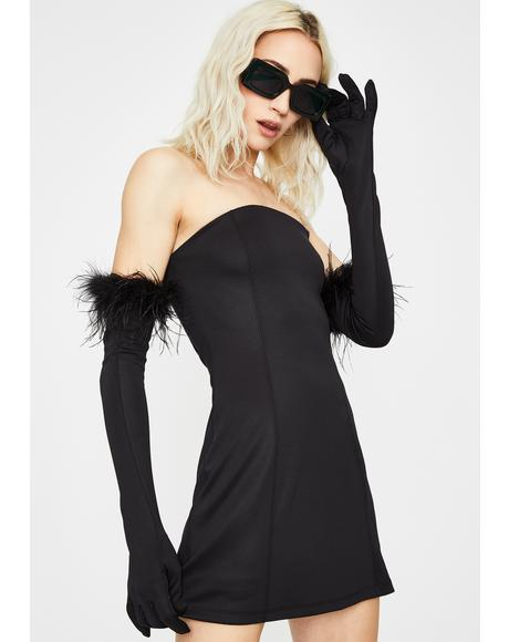 Noir Have Some Fun Strapless Dress