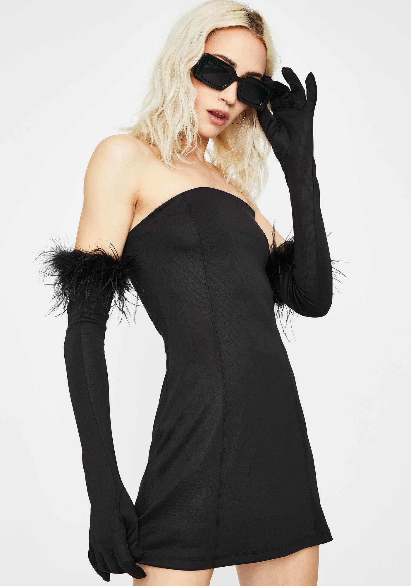 Kiki Riki Noir Have Some Fun Strapless Dress