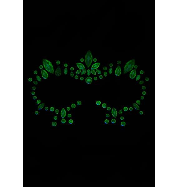Electro Lust Glow In The Dark Face Crystals