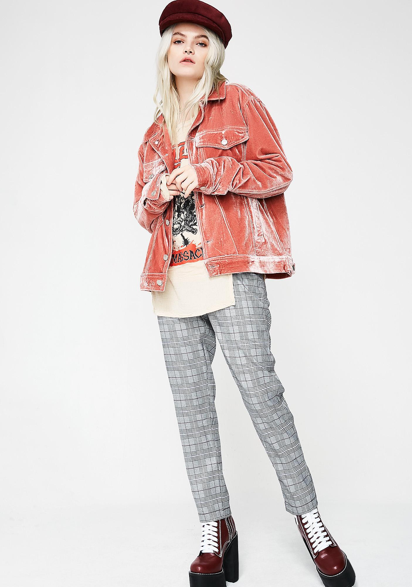 Rose Rocking Steady Velvet Jacket