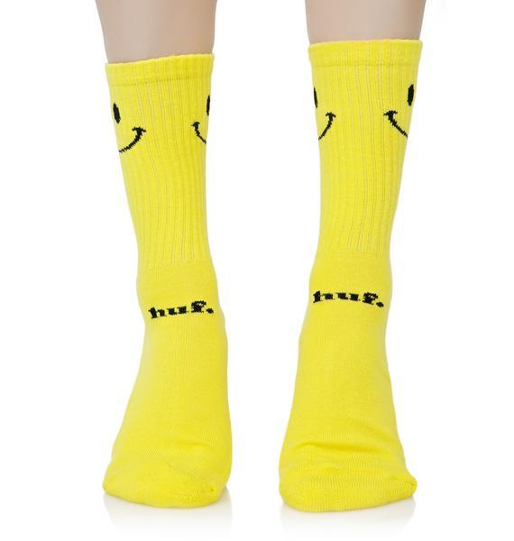 HUF Smiley Crew Sock