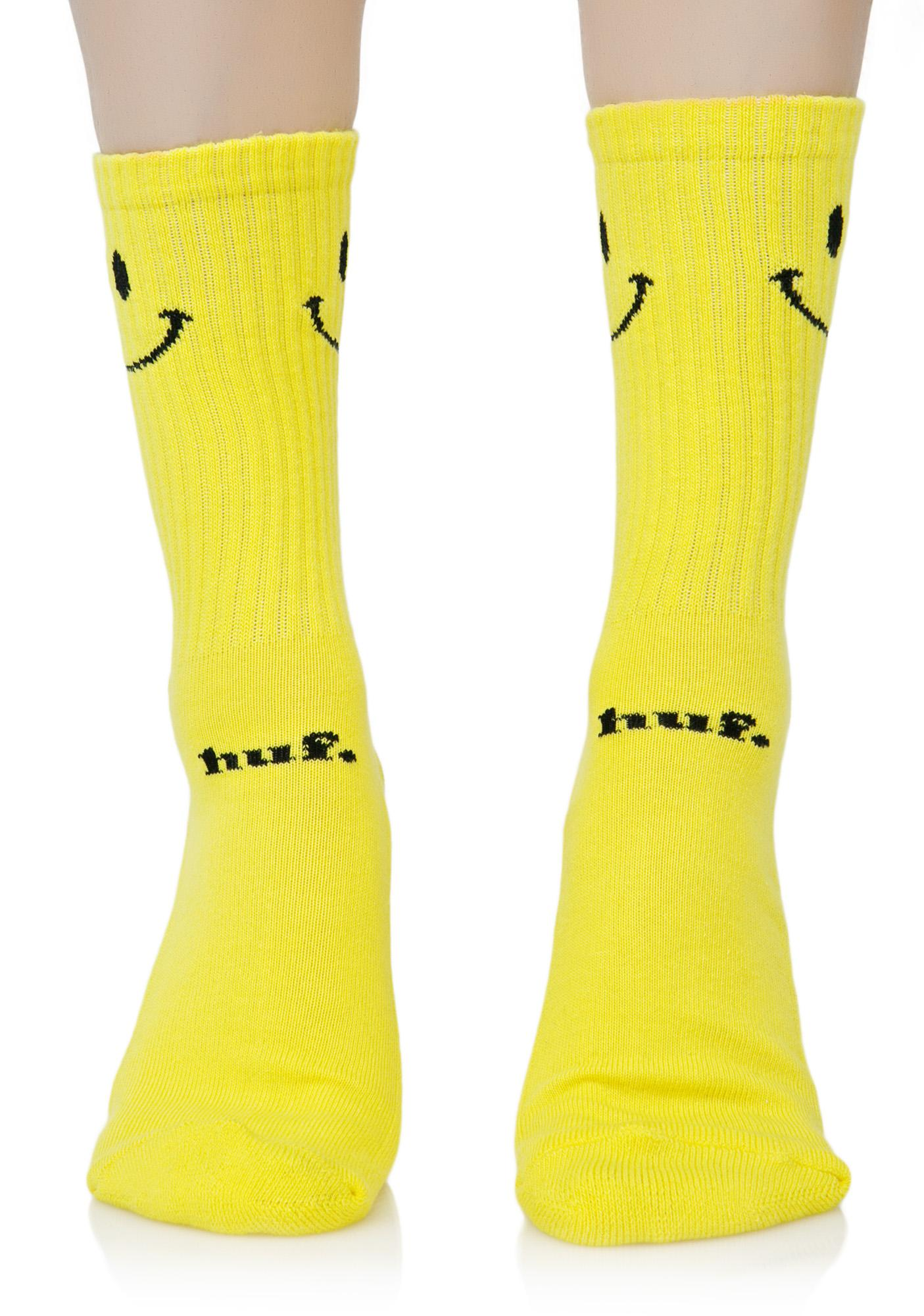 HUF Smiley Crew Sock