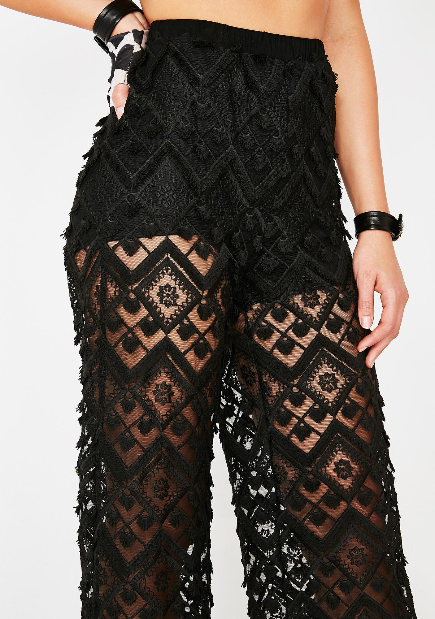 Night Traveler Lace Pants
