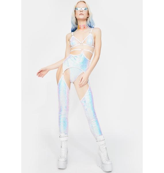 J Valentine Cosmic Ice Sequin Cincher Chaps
