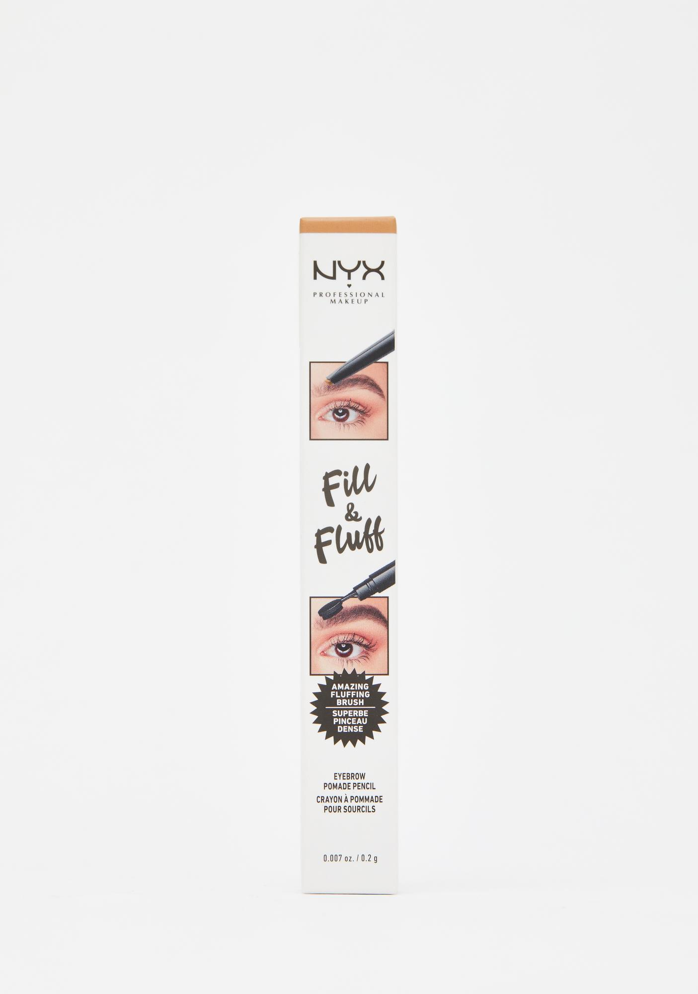 NYX Professional Makeup Blonde Fill & Fluff Eyebrow Pomade Pencil