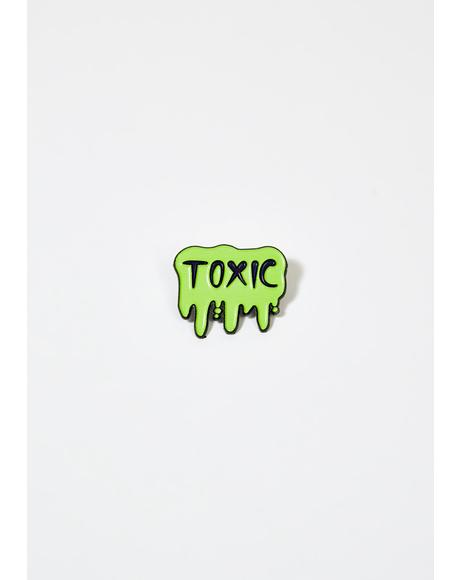 Glow In The Dark Toxic Slime Pin