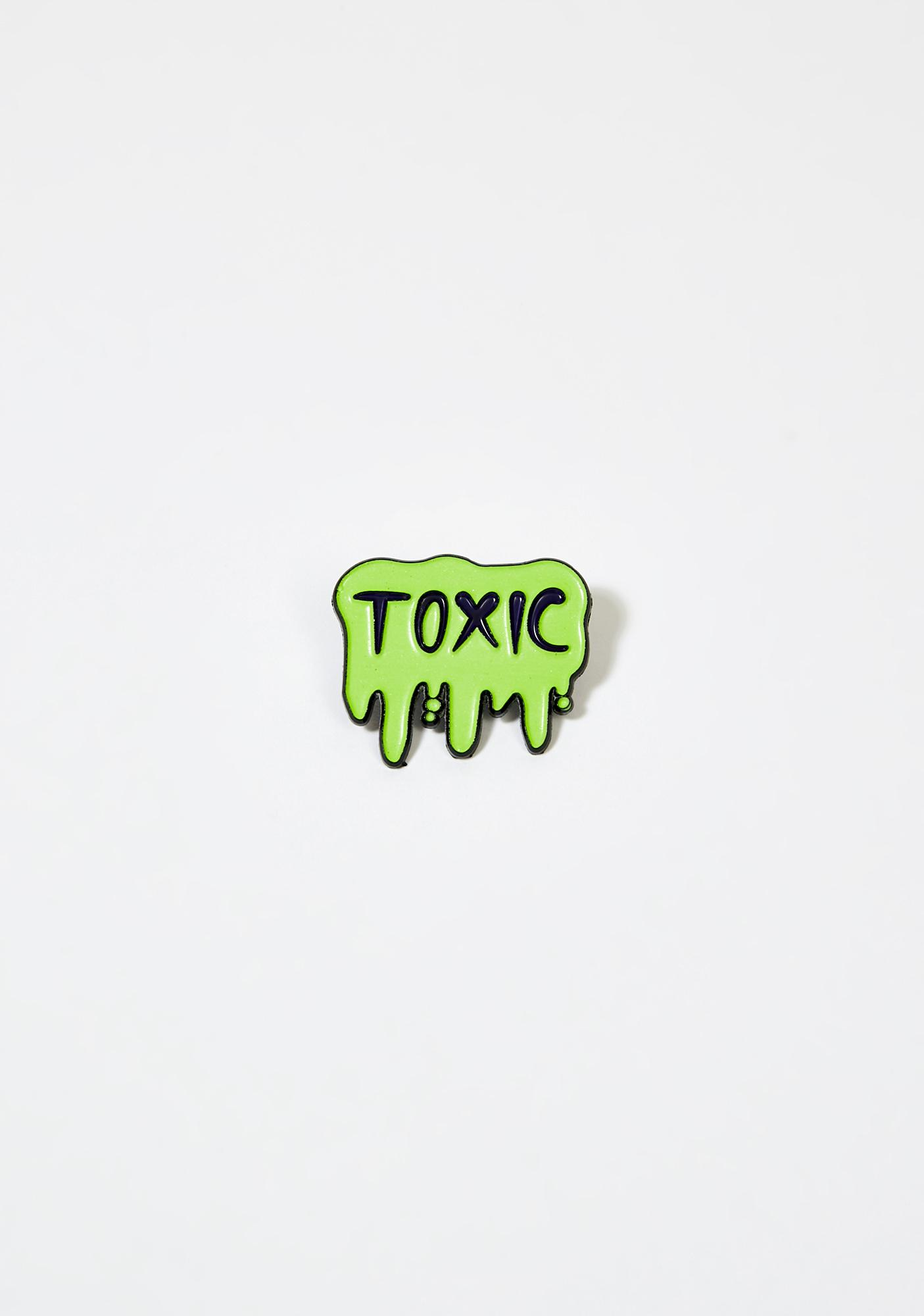 Ectogasm Glow In The Dark Toxic Slime Pin