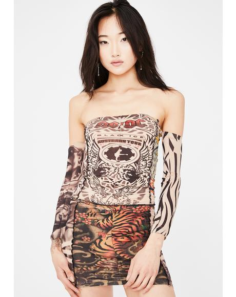 Tattoo Stretch Mini Dress