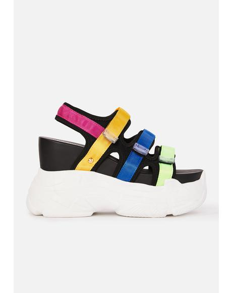 Prism Paradise Wedge Sandals