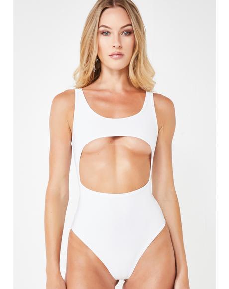 Ain't No Angel Cutout Bodysuit