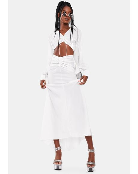 Off White Claire Maxi Dress
