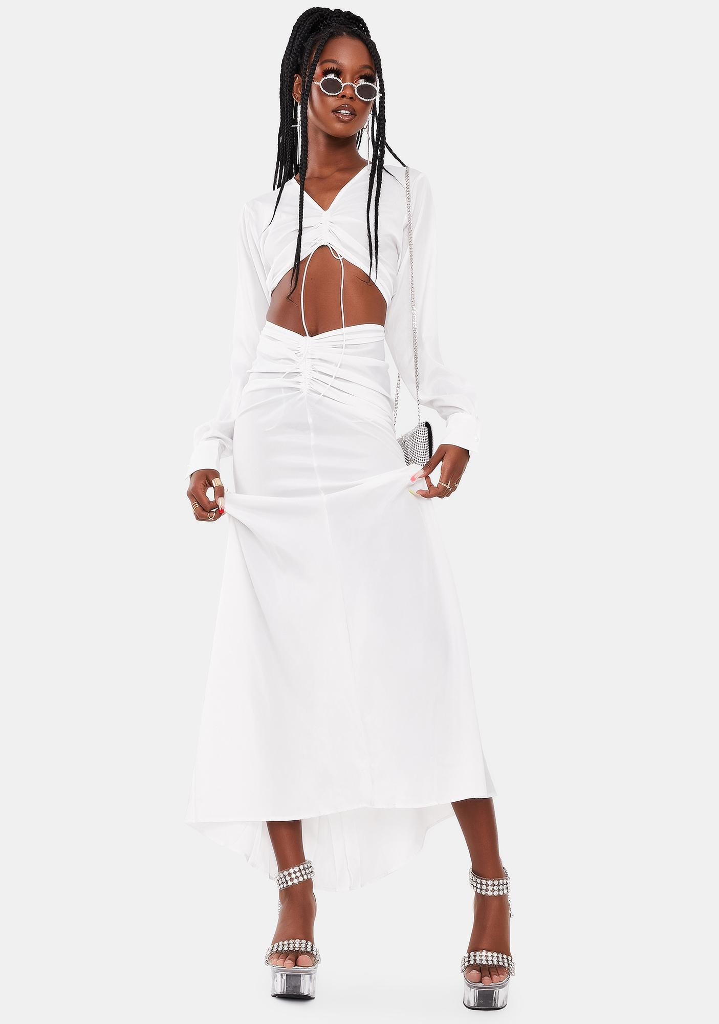 Kiki Riki Off White Claire Maxi Dress