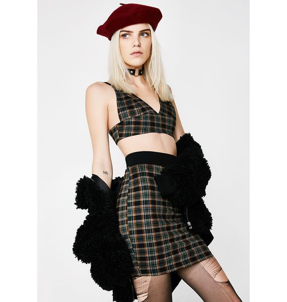 School Favorite Plaid Skirt