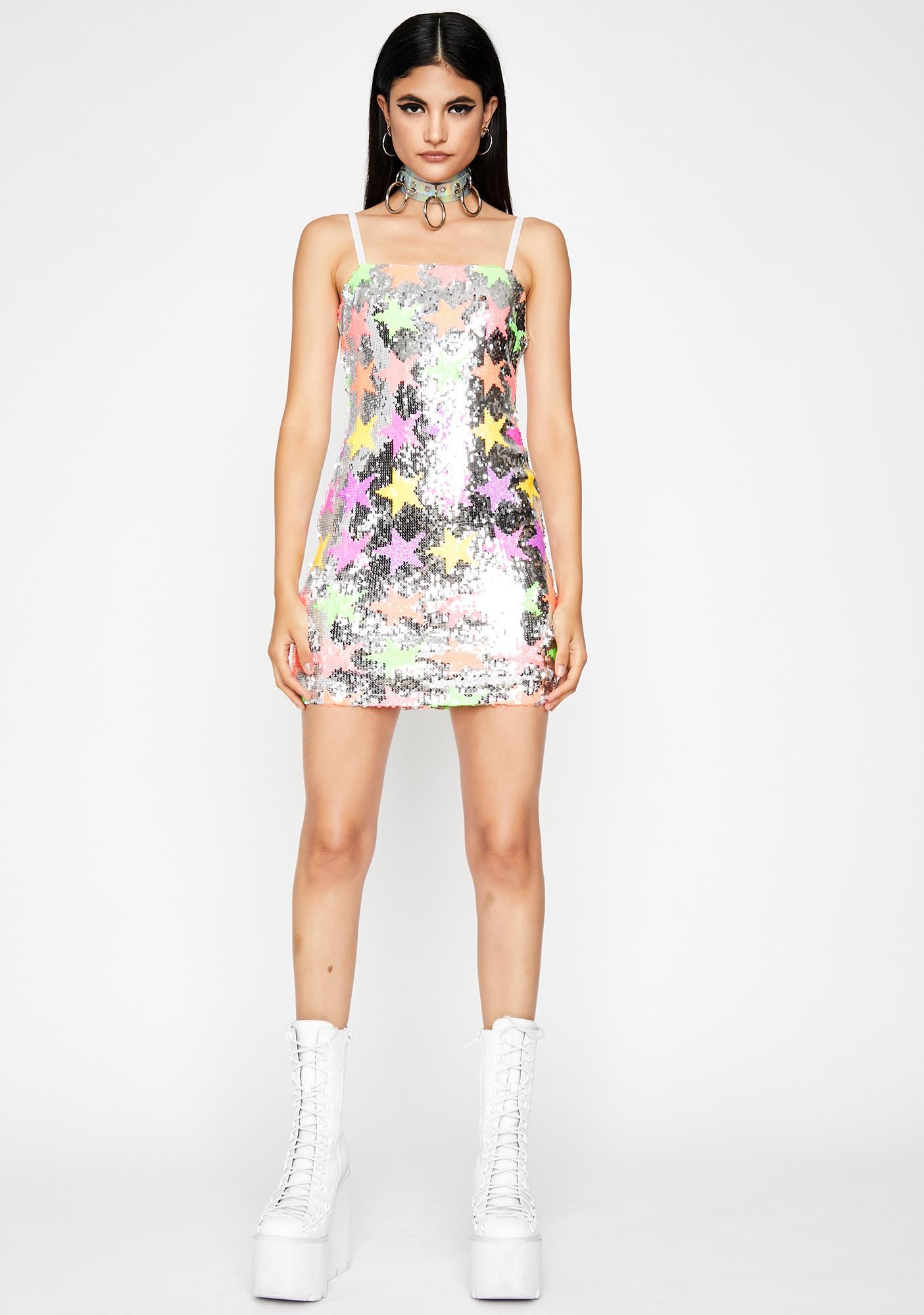 Sparkle Acid Mini Dress