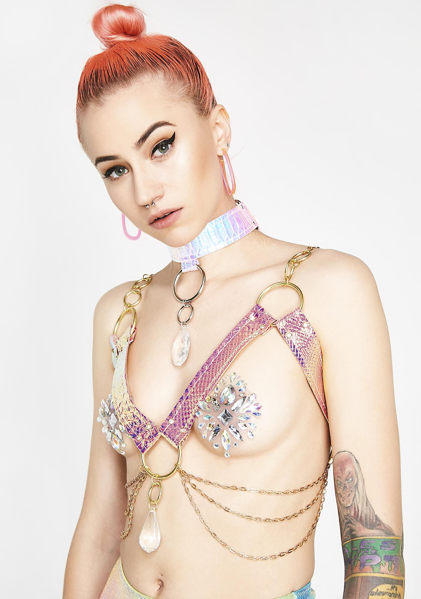 Seagypsy Couture Sunset Prism Dragon Crystal Harness