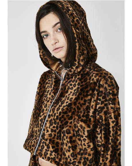 Wildcat Cropped Hoodie