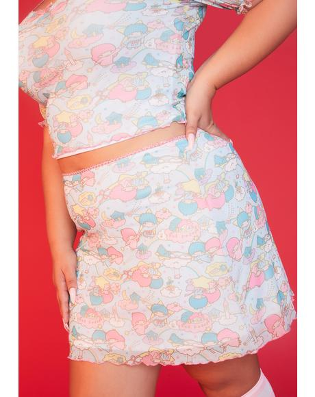 She's Lost In The Clouds Mesh Skirt