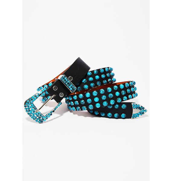 On The Dot Studded Belt