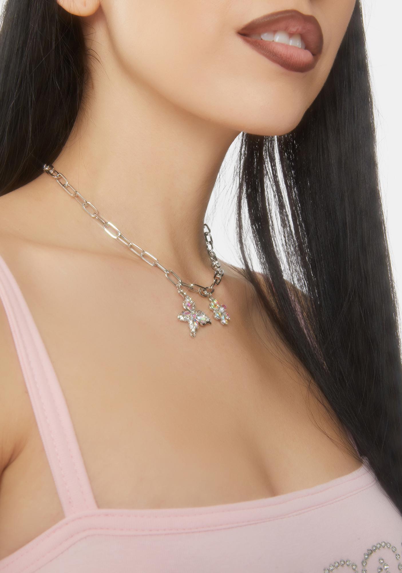 Butterfly Hidden Gem Necklace
