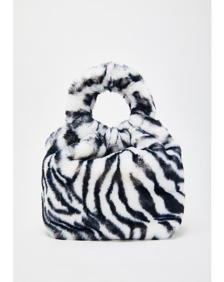 Wild Side Of Sass Fuzzy Handbag