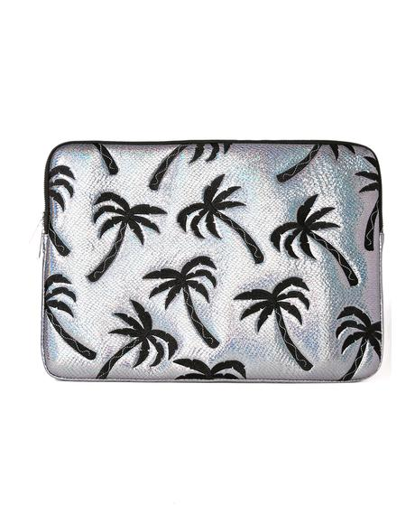 Palm Shimmer Laptop Case