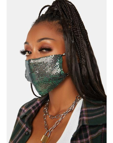 Ice Diamond Palace Chainmail Face Mask