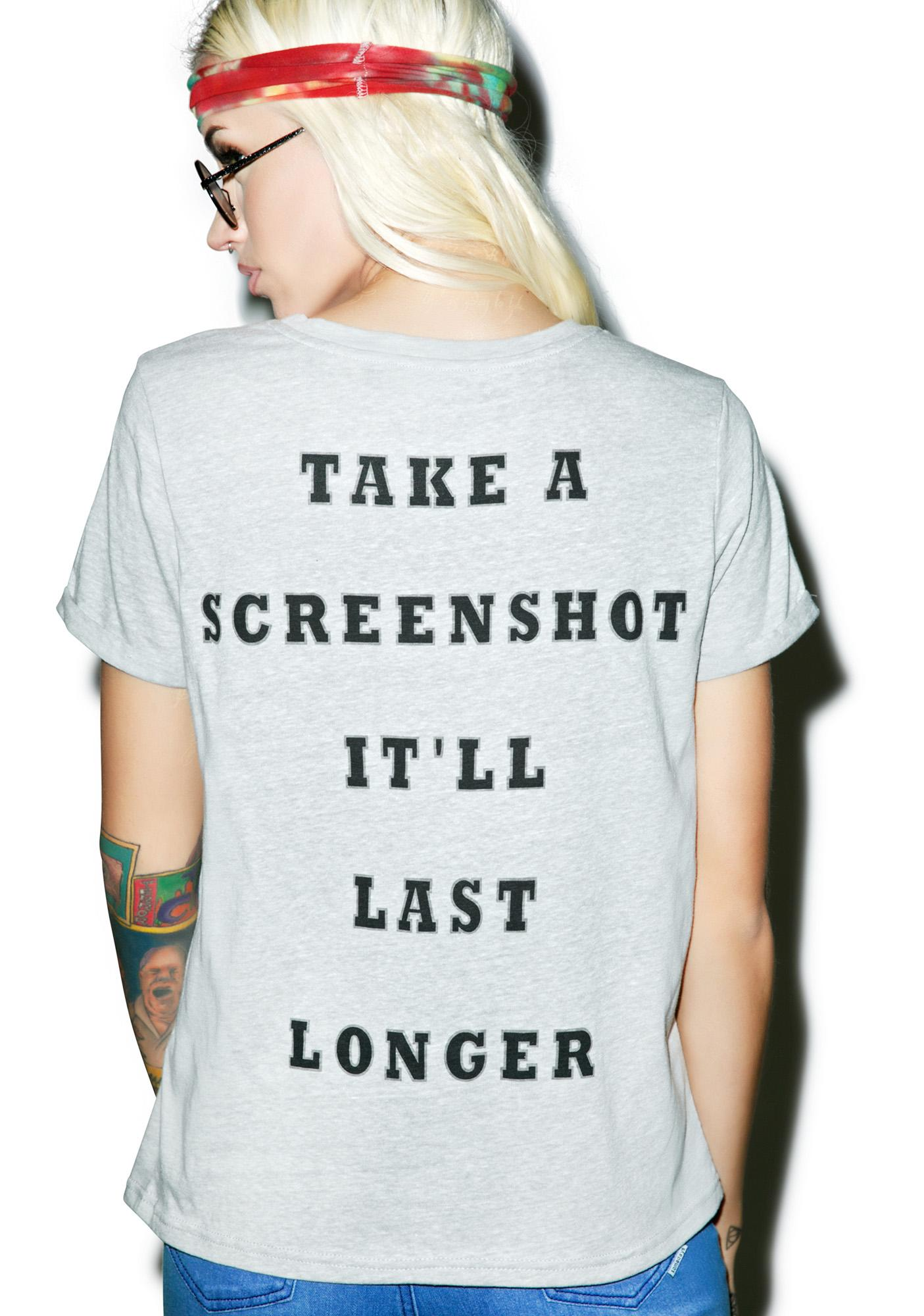Mink Pink Screen Shot It Tee