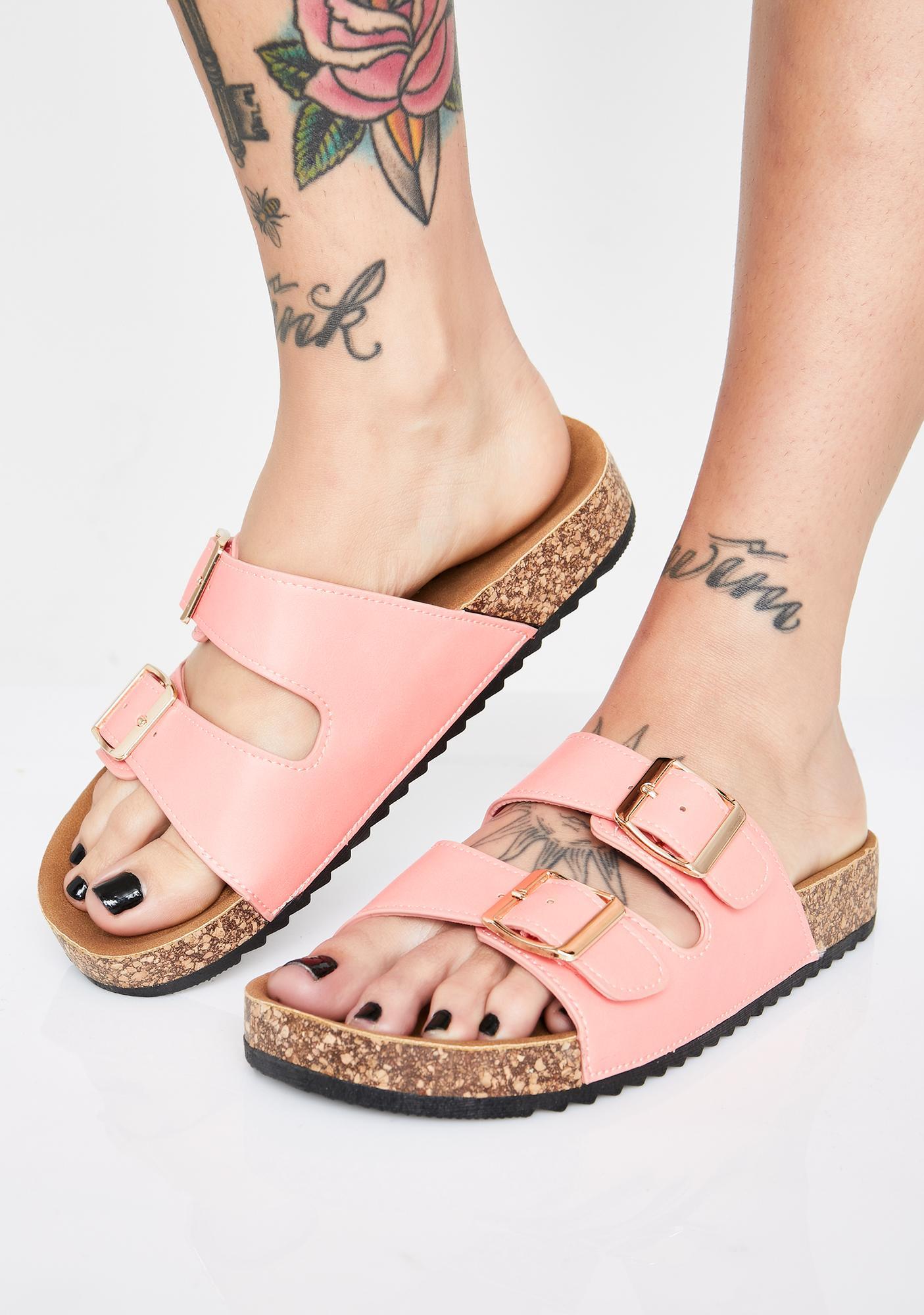 Sweet Sandy Paradise Buckle Sandals