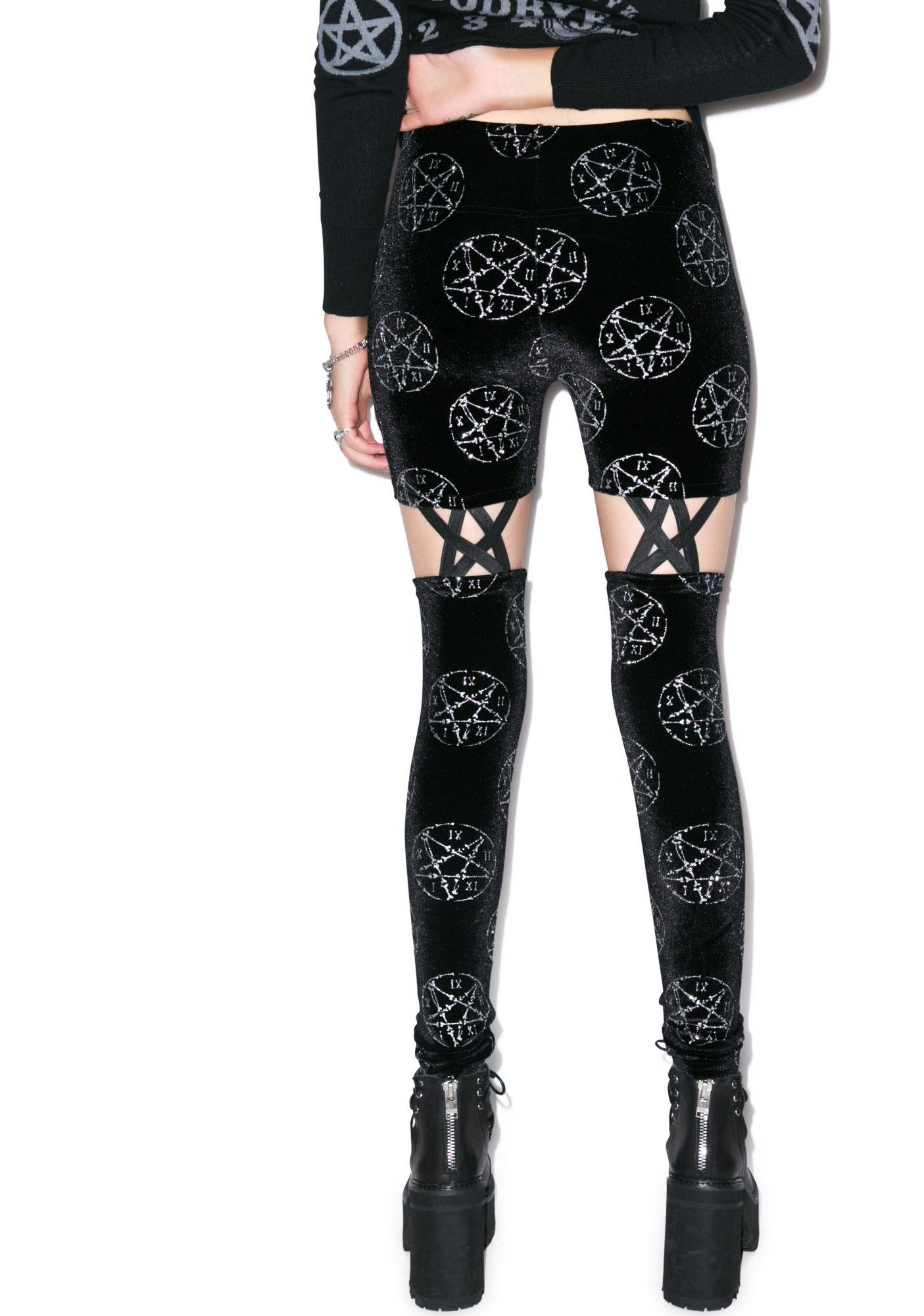 Too Fast Bone Pentagram Legging