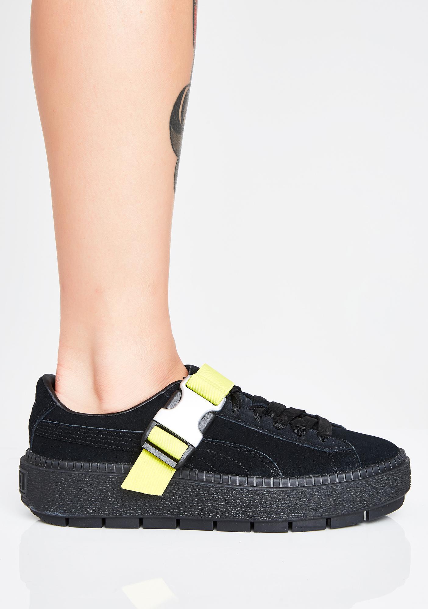 3ade233d08d9 ... PUMA Platform Trace Buckle Sneakers ...