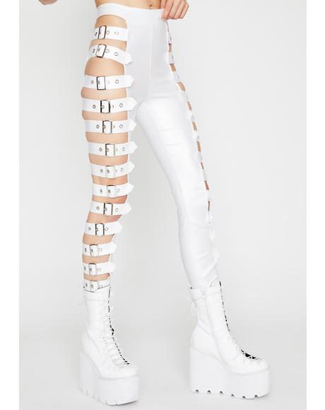 Icy War Zone Buckle Leggings
