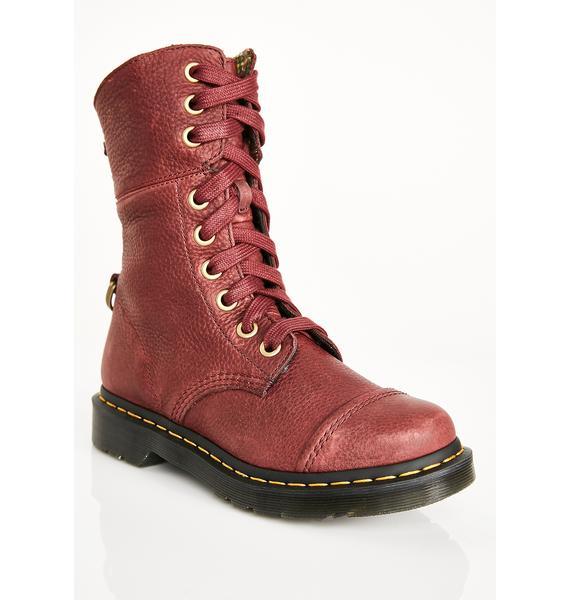 Dr. Martens Oxblood Aimilita Boots